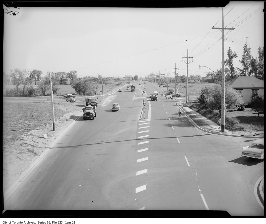 Dufferin south of Highway 401, 1960