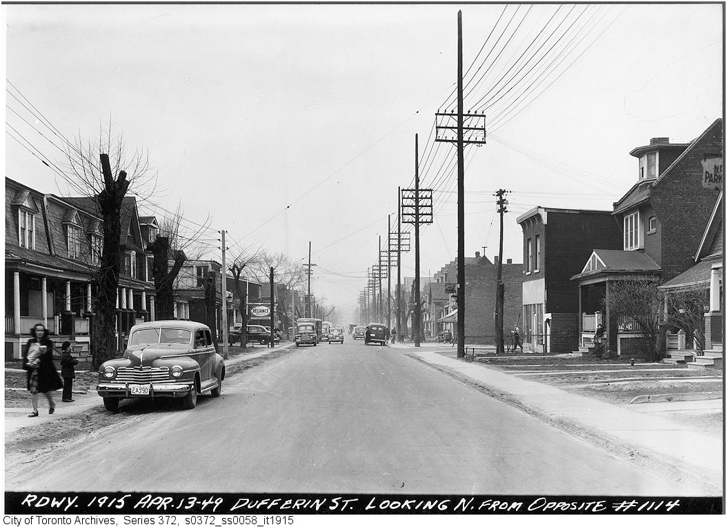Dufferin north at Shanly, 1949