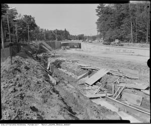 Historic photo from 1961 - 7 photos of the construction of the Lawrence Avenue East overpass at Bayview Avenue in Bridle Path