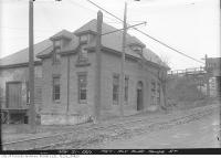 Historic photo from Monday, November 21, 1921 - Metropolitan Railway Building at Belt Line on Yonge Street in Mount Pleasant Cemetery