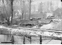 Historic photo from Tuesday, March 28, 1916 - Belt Line Railway at Merton Street near Mount Pleasant Road bridge in Mount Pleasant Cemetery