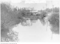 Historic photo from 1908 - Looking north across a small pond on the west side of Yonge Street in North Toronto