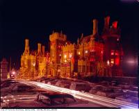 Historic photo from 1963 - Christmas lights and decorations at Casa Loma in Casa Loma
