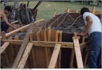 Historic photo from 1967 - 16 photos of sculptor Wessel Couzijn installing Midsummer Nights Dream in High Park