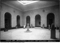 Historic photo from Wednesday, April 3, 1929 - A sunny Sculpture Court in 1939 in Art Gallery of Ontario