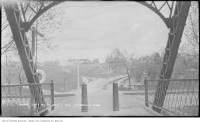 Historic photo from Saturday, May 11, 1912 - Standing on the bridge over the Don looking west to Riverdale park in Riverdale park