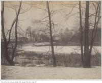 Historic photo from 1890 - Railway crossing at the south end of the park in High Park